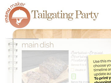 create your own menu tailgating